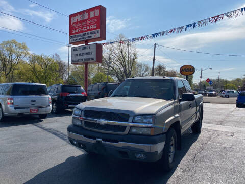 2003 Chevrolet Silverado 1500 for sale at Parkside Auto Sales & Service in Pekin IL
