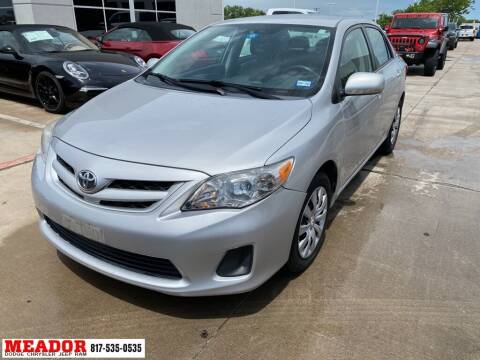 2012 Toyota Corolla for sale at Meador Dodge Chrysler Jeep RAM in Fort Worth TX