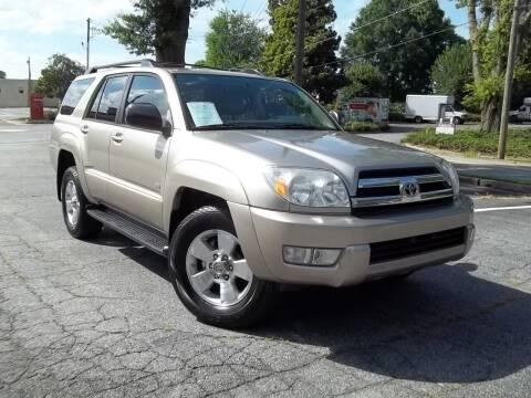 2005 Toyota 4Runner for sale at CORTEZ AUTO SALES INC in Marietta GA