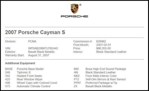 2007 Porsche Cayman for sale at RAC Performance in Carrollton TX
