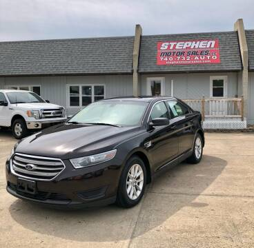 2013 Ford Taurus for sale at Stephen Motor Sales LLC in Caldwell OH