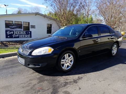 2007 Chevrolet Impala for sale at TR MOTORS in Gastonia NC