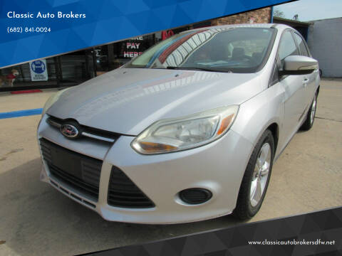 2013 Ford Focus for sale at Classic Auto Brokers in Haltom City TX
