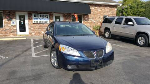 2008 Pontiac G6 for sale at Auto Choice in Belton MO