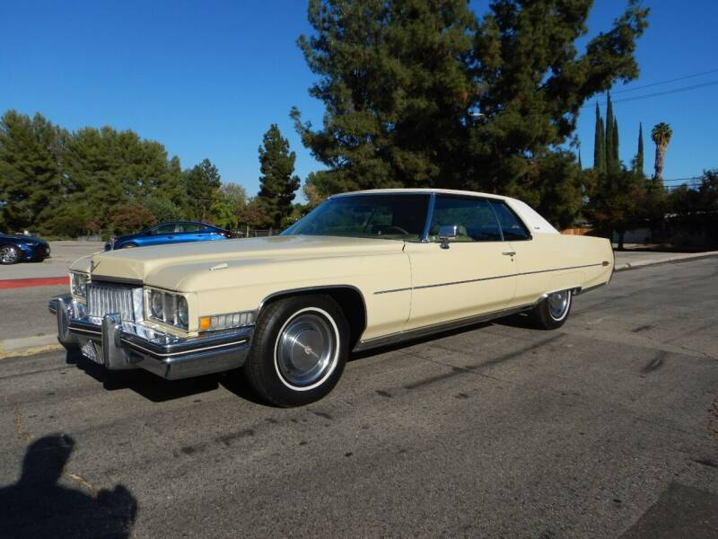 1973 Cadillac DeVille for sale at California Cadillac & Collectibles in Los Angeles CA