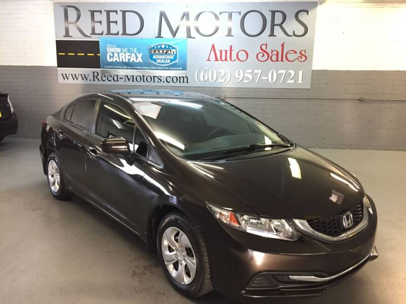 2014 Honda Civic for sale at REED MOTORS LLC in Phoenix AZ