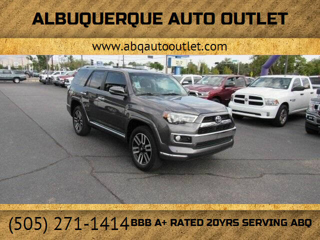 2018 Toyota 4Runner for sale at ALBUQUERQUE AUTO OUTLET in Albuquerque NM