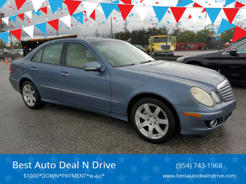2007 Mercedes-Benz E-Class for sale at Best Auto Deal N Drive in Hollywood FL
