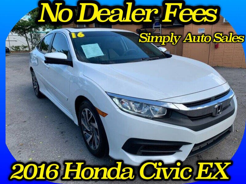2016 Honda Civic for sale at Simply Auto Sales in Palm Beach Gardens FL