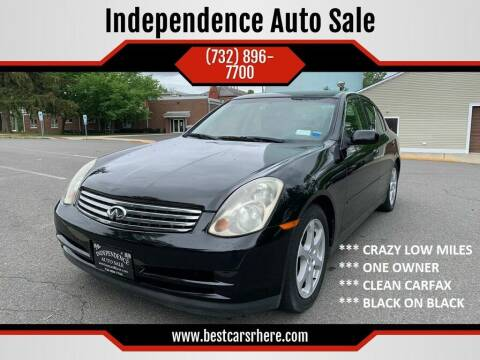 2003 Infiniti G35 for sale at Independence Auto Sale in Bordentown NJ