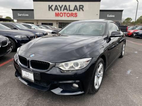 2014 BMW 4 Series for sale at KAYALAR MOTORS in Houston TX