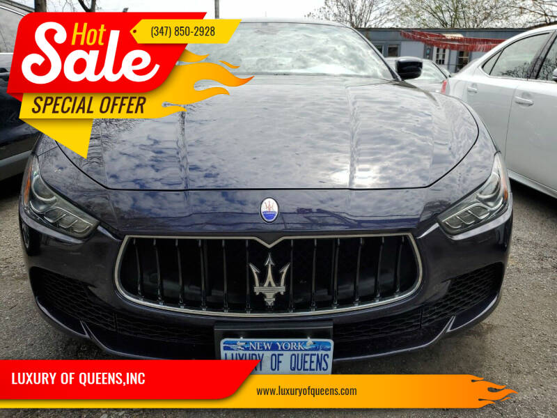 2016 Maserati Ghibli for sale at LUXURY OF QUEENS,INC in Long Island City NY