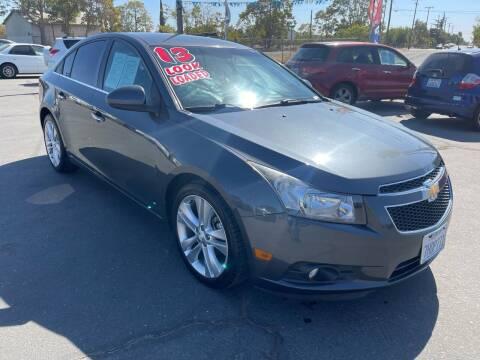2013 Chevrolet Cruze for sale at LIVINGSTON AUTO SALES in Livingston CA