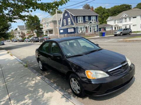 2001 Honda Civic for sale at Allan Auto Sales, LLC in Fall River MA