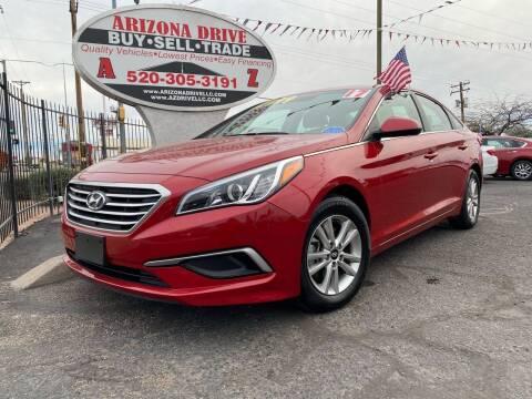 2017 Hyundai Sonata for sale at Arizona Drive LLC in Tucson AZ