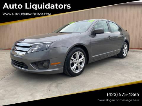 2012 Ford Fusion for sale at Auto Liquidators in Bluff City TN