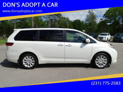 2015 Toyota Sienna for sale at DON'S ADOPT A CAR in Cadillac MI