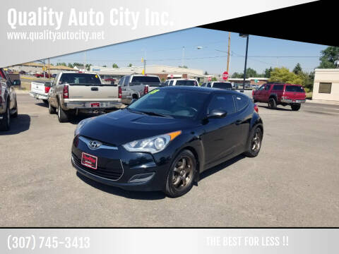 2013 Hyundai Veloster for sale at Quality Auto City Inc. in Laramie WY