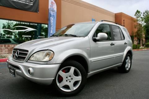 2001 Mercedes-Benz M-Class for sale at CK Motors in Murrieta CA