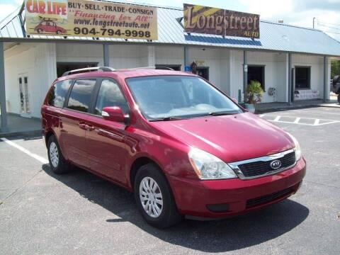 2012 Kia Sedona for sale at LONGSTREET AUTO in St Augustine FL