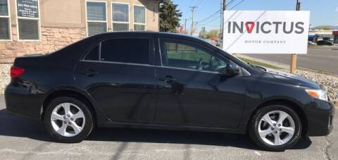 2013 Toyota Corolla for sale at INVICTUS MOTOR COMPANY in West Valley City UT