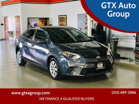 2015 Toyota Corolla for sale at GTX Auto Group in West Chester OH