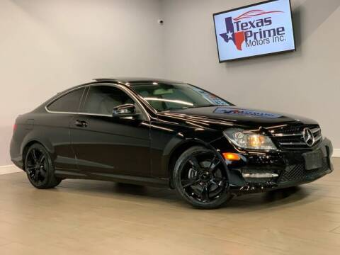 2014 Mercedes-Benz C-Class for sale at Texas Prime Motors in Houston TX