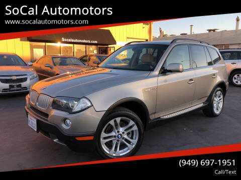 2008 BMW X3 for sale at SoCal Automotors in Costa Mesa CA