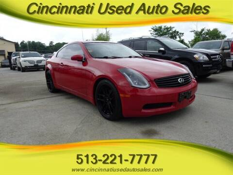 2003 Infiniti G35 for sale at Cincinnati Used Auto Sales in Cincinnati OH