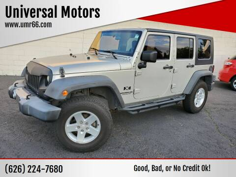 2007 Jeep Wrangler Unlimited for sale at Universal Motors in Glendora CA