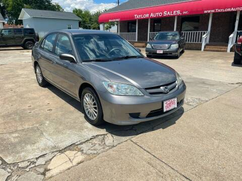 2005 Honda Civic for sale at Taylor Auto Sales Inc in Lyman SC