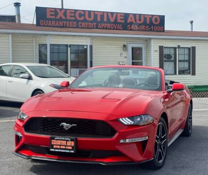 2020 Ford Mustang for sale at Executive Auto in Winchester VA