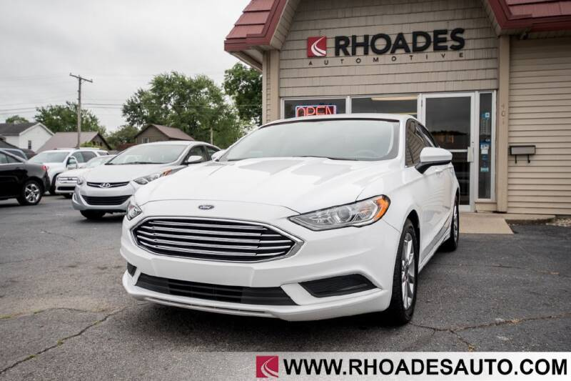 2017 Ford Fusion for sale at Rhoades Automotive in Columbia City IN