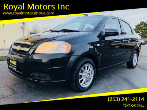 2008 Chevrolet Aveo for sale at Royal Motors Inc in Kent WA