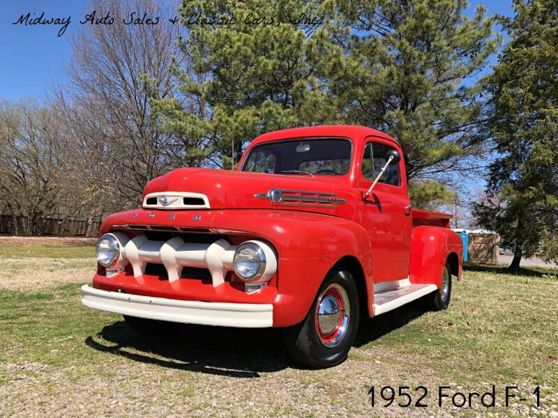 1952 Ford F-1 for sale at MIDWAY AUTO SALES & CLASSIC CARS INC in Fort Smith AR