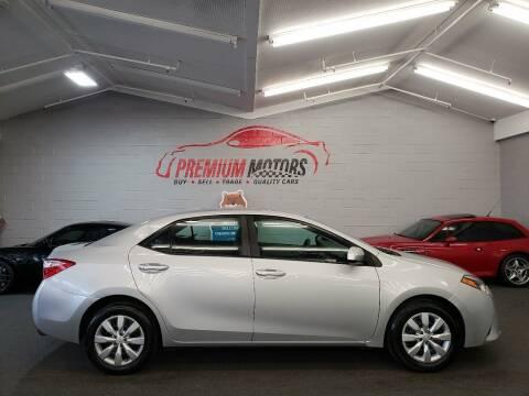 2014 Toyota Corolla for sale at Premium Motors in Villa Park IL