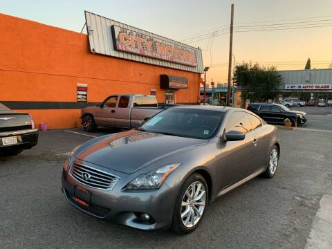2013 Infiniti G37 Coupe for sale at City Motors in Hayward CA