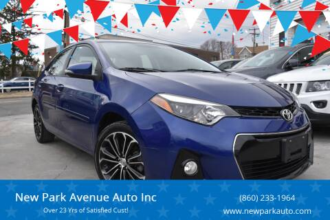 2015 Toyota Corolla for sale at New Park Avenue Auto Inc in Hartford CT