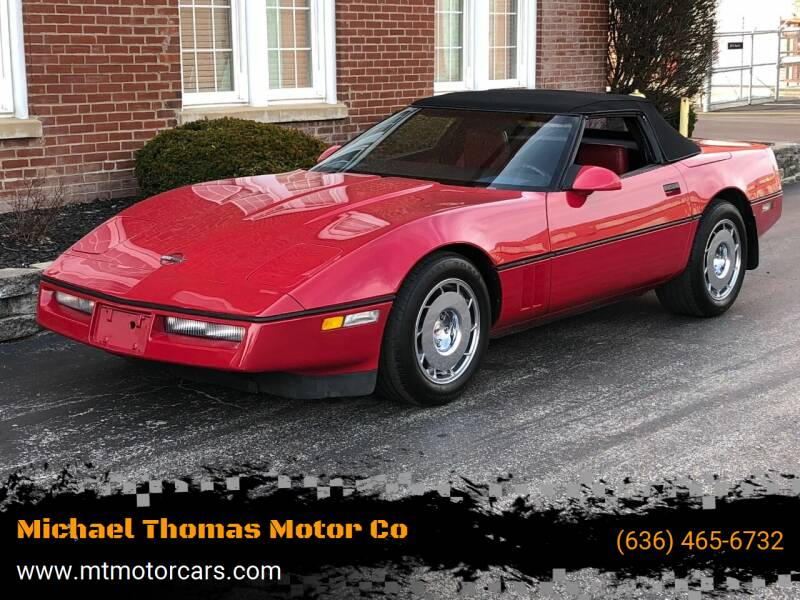 1986 Chevrolet Corvette for sale at Michael Thomas Motor Co in Saint Charles MO