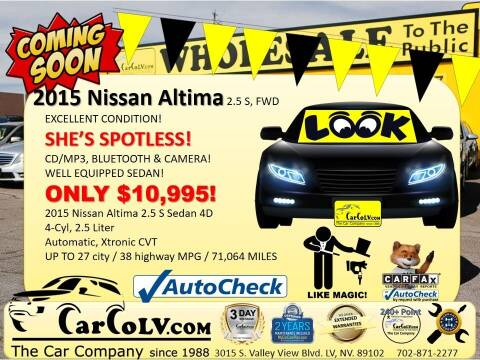 2015 Nissan Altima for sale at The Car Company in Las Vegas NV