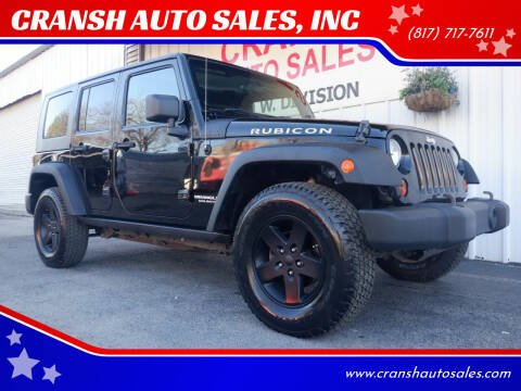 2008 Jeep Wrangler Unlimited for sale at CRANSH AUTO SALES, INC in Arlington TX