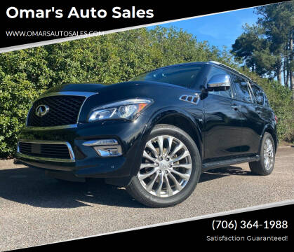 2015 Infiniti QX80 for sale at Omar's Auto Sales in Martinez GA