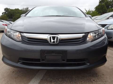 2012 Honda Civic for sale at Auto Haus Imports in Grand Prairie TX