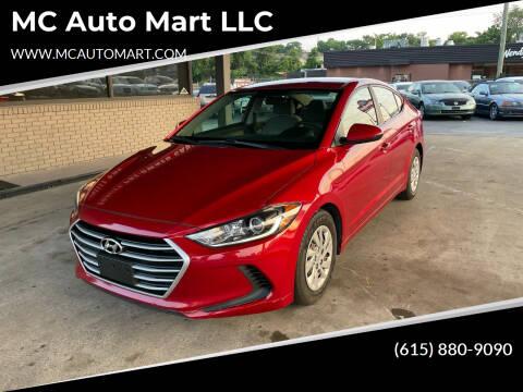 2017 Hyundai Elantra for sale at MC Auto Mart LLC in Hermitage TN