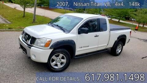 2007 Nissan Titan for sale at Wheeler Dealer Inc. in Acton MA