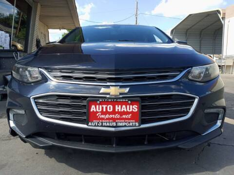 2016 Chevrolet Malibu for sale at Auto Haus Imports in Grand Prairie TX