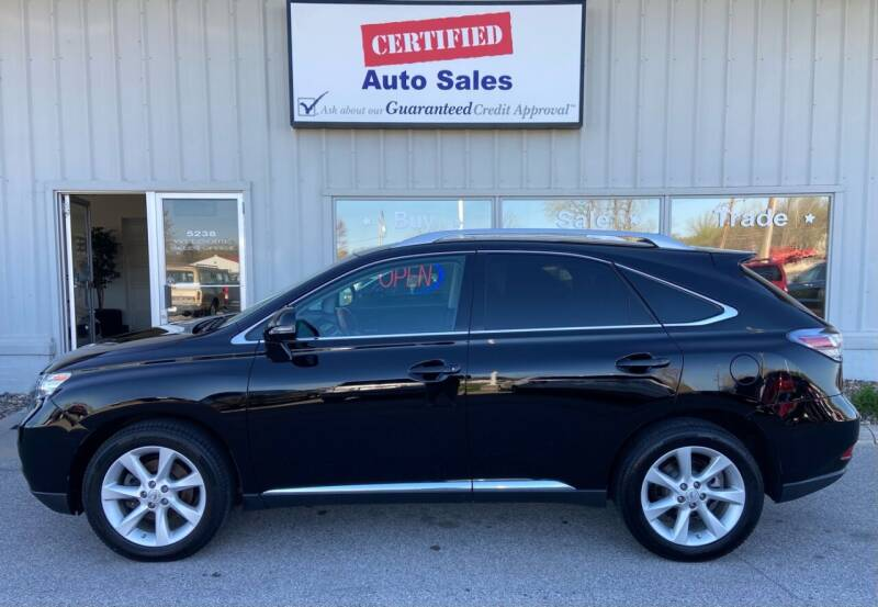 2012 Lexus RX 350 for sale at Certified Auto Sales in Des Moines IA