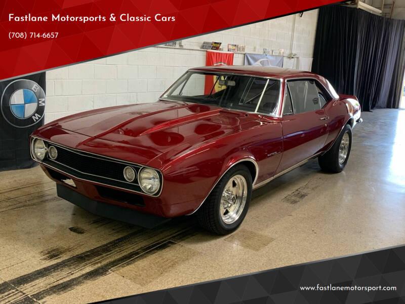1967 Chevrolet Camaro for sale at Fastlane Motorsports & Classic Cars in Addison IL
