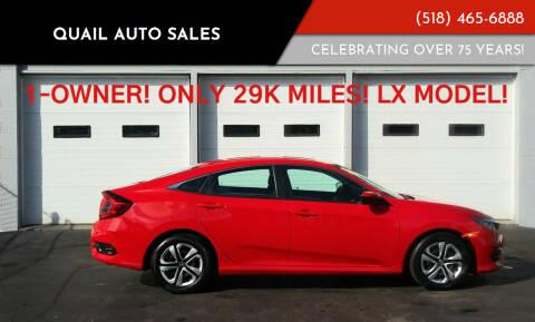2018 Honda Civic for sale at Quail Auto Sales in Albany NY