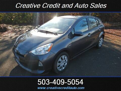 2014 Toyota Prius c for sale at Creative Credit & Auto Sales in Salem OR